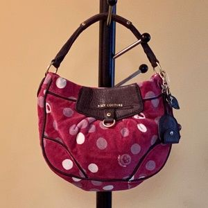 NWOT Juicy Couture Cherry Velour Hobo